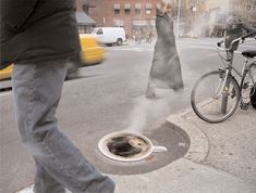Cool And Creative Street Ads - Folgers Coffee: Manhole