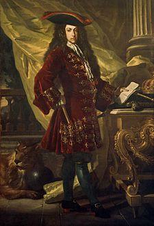 Carlos de Habsburgo, Arquiduque da Áustria (1685–1740). Quadro de Francesco Solimena, c. 1707.  In: Pedro II de Portugal – Wikipédia.