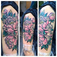 Check out our new artist Julia Neely! Here's some custom floral from her! #custom #tattoo #tattoos #colortattoos #ink #inked #maryville #knoxville #TN