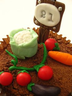 Vegetable patch sugar fondant toppers $29.95