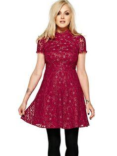 Fearne Cotton Full Skirt Lace Dress