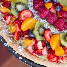 Fruit Medley Pizza with Avocado-Lime Whip in a Cinnamon Sugar Crust ...