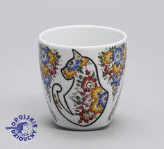 #kubek #mug #kot #cat #chat #gatto #folk #handpainted #handmade #folk #ludowo #flower #ornaments #opolskie
