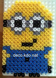 HAMA PERLER BEADS / PERLES À REPASSER / STRIJKPARELS - MINIONS / IKKE - Despicable Me Minion hama perler beads by deco.kdo.nat