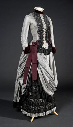 "fripperiesandfobs: "" Day dress, 1885 From the Museu del Disseny """