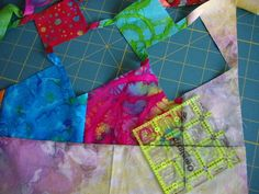 """Magic Pinwheels~ """"I put clear tape on my ruler and traced the lines from the instruction sheet."""""""