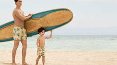 H&M has a new 'Like Father, Like Son' collection of matching swim-wear for dads and boys Father And Son, Surfboard, Sons, Kids Fashion, Swimming, Swim Wear, Children, How To Wear, Collection