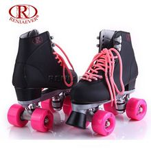 US $107.00 RENIAEVER Roller Skates Double Line Skates Black Women Female Lady Adult Pink PU 4 Wheels Two line Skating Shoes Patines. Aliexpress product