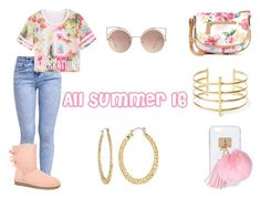 """All summer 16"" by mizmonae ❤ liked on Polyvore featuring New Look, UGG Australia, Apt. 9, Ashlyn'd, MANGO, Fragments and BauXo"