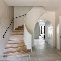 Authentic lime plastered walls...huge comeback for interiors. Subtle neutral colors with so much depth and softness.