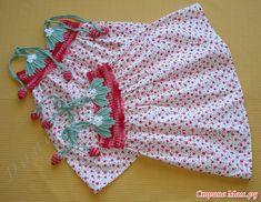 Croche pro Bebe: Vestido Moranguinho em croche e tecido
