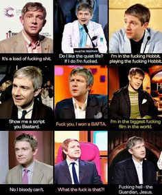OMG Martin Freeman! Here you have the reasons I love him so much!