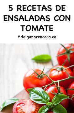 10 recetas de ensaladas que no llevan lechuga y ayudan a perder peso rápido - Adelgazar en casa Mango Salat, Cooking Recipes, Healthy Recipes, Canapes, Vegan Vegetarian, Healthy Eating, Menu, Vegetables, Food