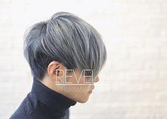 WEBSTA @ revels_hair - #hairmake #ヘアメイク #hairsalon #ヘアサロン #menshair #メンズヘア #hairmakelab #hairdye #haircolor #ヘアカラー #revels #リベルス #マニパニ #マニックパニック #manicpanic #bluesteel #ブルースティール #shibuya #渋谷 #美容師 #美容室 #silverhair #シルバーヘア #whitehair #ホワイトヘア #grayhair #グレーヘア #normcore #刈り上げまでグレーなのがこだわり。