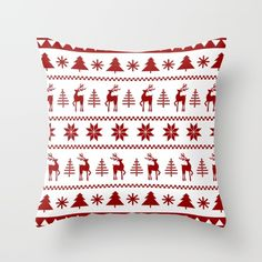 I love this little pillow! A great way to add some Christmas decor without going literal with stockings and lights.