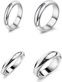 Gullei Trustmart : Personalized Name Engrave Matching Valentines Gift Pair Ring Set [GTM00696] - $42.00-Couple Gifts, Cool USB Drives, Stylish iPad/iPod/iPhone Cases & Home Decor Ideas