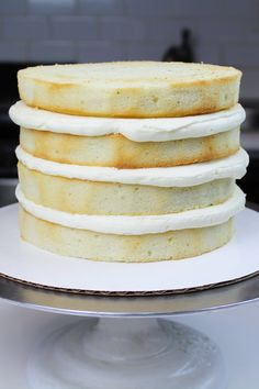 Best Vanilla Cake Recipe With Vanilla Buttercream Frosting - Chelsweets