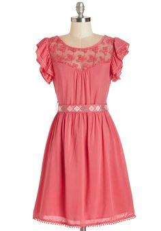 Indie Darling Dress in Coral. I bought this dress in blue, and now they make a pink one?!