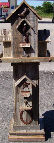 Cowboy & Cowgirl Barnwood - Barnwood Birdhouses - Rogers, TX