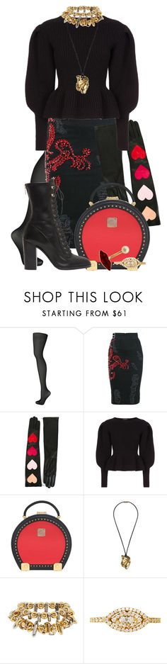 """""""My Fantasy Wardrobe"""" by neuroticfashionplate ❤ liked on Polyvore featuring Wolford, MARCOBOLOGNA, Christopher Kane, Burberry, MCM, Maticevski, Plukka and Sergio Rossi"""