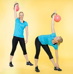 Kahvakuulalla kesäkuntoon – vain vartti päivässä!   Me Naiset Flat Tummy, Excercise, Gym Workouts, Fitness Motivation, Exercise Motivation, Gym Equipment, Health Fitness, Sporty, Running
