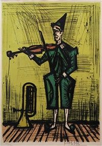 Bernard Buffet - Violinist Clown