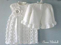 Christening Gown Crochet Baby Dress Set Crochet Baptism Baby Girl Dress Baby Cardigan Baby Girl Outfit Knitted Baby Dress Newborn Baby Gift
