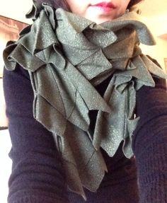 Cashmere Silk Scarf - ONYX CASHMERE SILK-III by VIDA VIDA 6A562r