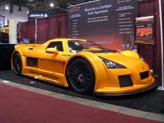 Crazy Custom Cars - pin by Alpine Concours Custom Muscle Cars, Custom Cars, Pretty Cars, Nice Cars, Porches, Yellow Car, Sweet Cars, Car In The World, Modified Cars