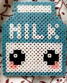 Milk kawaii hama perler beads