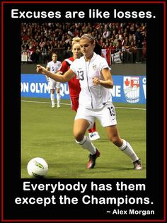 Soccer Poster Alex Morgan Photo Quote Wall Art by ArleyArtEmporium, $15.99