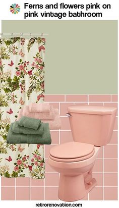 13 ideas to decorate an all-pink tile bathroom - Retro Renovation