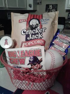 Baseball cap as gift baskets (With images) | Crafts, Gift ...  |Baseball Sympathy Gifts
