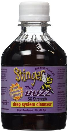 2 Stinger The Buzz 5x Strength 1 Hour Total Detox - 8oz liquid each