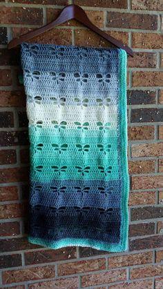 Dragonfly Blanket Baby Blanket Crochet Blanket Dragonflies