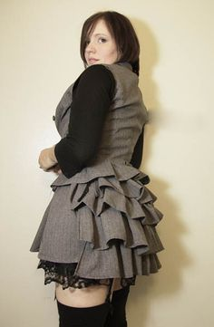 I might have to try this one myself. Super cute! Sad Suit to Ruffle-y cute - CRAFTSTER CRAFT CHALLENGES