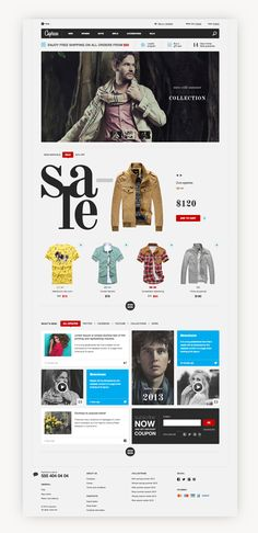Caprese. E-commerce website template. on Web Design Served