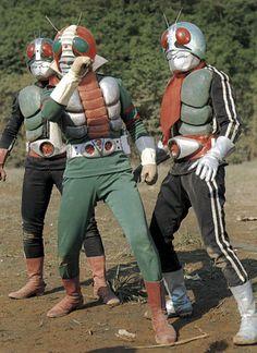 The Double Riders and Kamen Rider Kamen Rider Wizard, Kamen Rider Series, Superhero Tv Series, Japanese Superheroes, Robot Cartoon, Vintage Robots, Japanese Monster, Vr Troopers, Showa Era