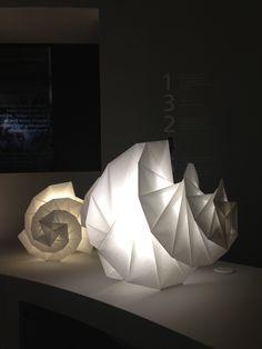 Issey Miyake lamps for Artemide. Photo by Karen Ruby