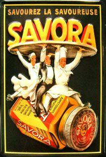 Savora - Plaque publicitaire relief métal 20x30 cm - Plaque métal publicitaire