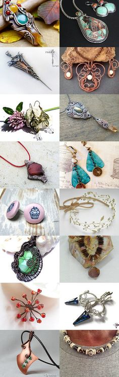 Handmade unique jewelry from *** JEWELRY*** Group Board on Pinterest by Milica D. J. on Etsy--Pinned with TreasuryPin.com