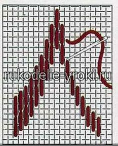 Part Bargello Motifs Bargello, Broderie Bargello, Bargello Patterns, Bargello Needlepoint, Bargello Quilts, Needlepoint Stitches, Hardanger Embroidery, Hand Embroidery Stitches, Embroidery Techniques