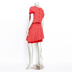 Valentino Print Summer Dress Red