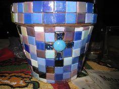 tiles glued to terra cotta pot next step grout