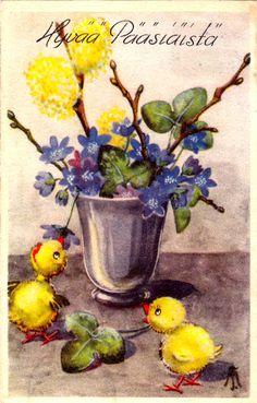 MARIANNE TELEGIN (TRYGG) - 106951943635258866150 - Picasa-verkkoalbumit Easter Art, Vintage Easter, Anemone Hepatica, Planter Pots, Painting, Picasa, Painting Art, Paintings