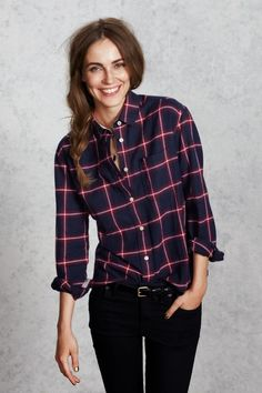 Stylish Check Shirt With Black Jeans