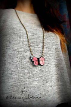 Butterfly necklace. Handmade.