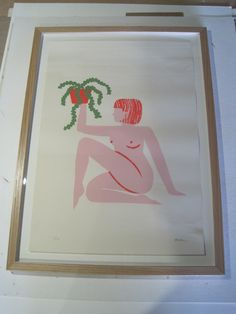 Oak box frame-print-unknown-Women