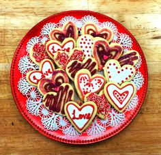 Happy Valentine's Day from Blue Mountain Bistro-to-Go! Handmade sugar cookies. #hudsonvalley #desserts #catering #weddings