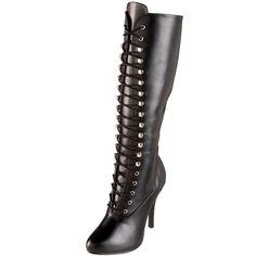 Funtasma by Pleaser Women's Arena-2020 Knee-High Boot,Black PU,9 M US